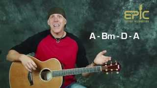 Learn Whats up 4 Non Blondes SUPER EASY Beginner guitar song lesson with chords strum patterns