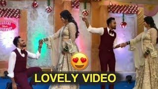 Yash Master Proposing His Wife Varsha On Stage | Yashwanth Wedding Celebrations | icrazy media