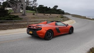 Volcanic Orange McLaren 650s Driving on 17 Mile Drive During Car Week!