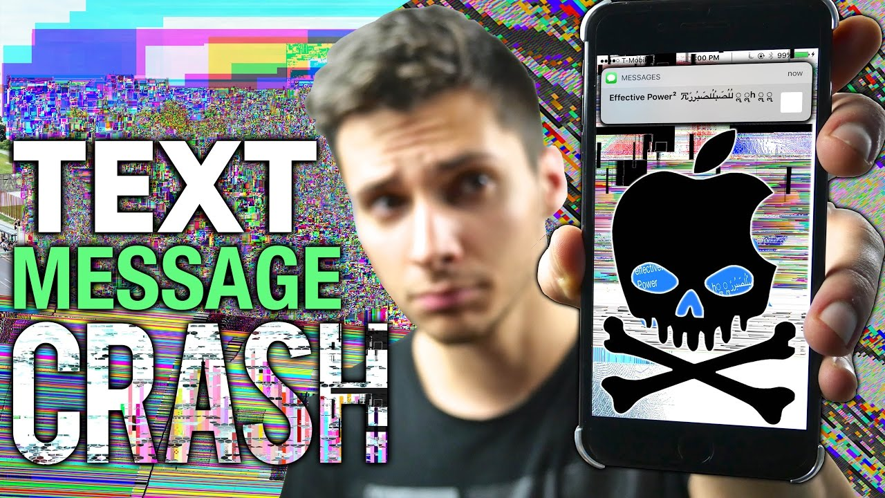 Bug: crash Message application by MMS on iOS | vincedes3