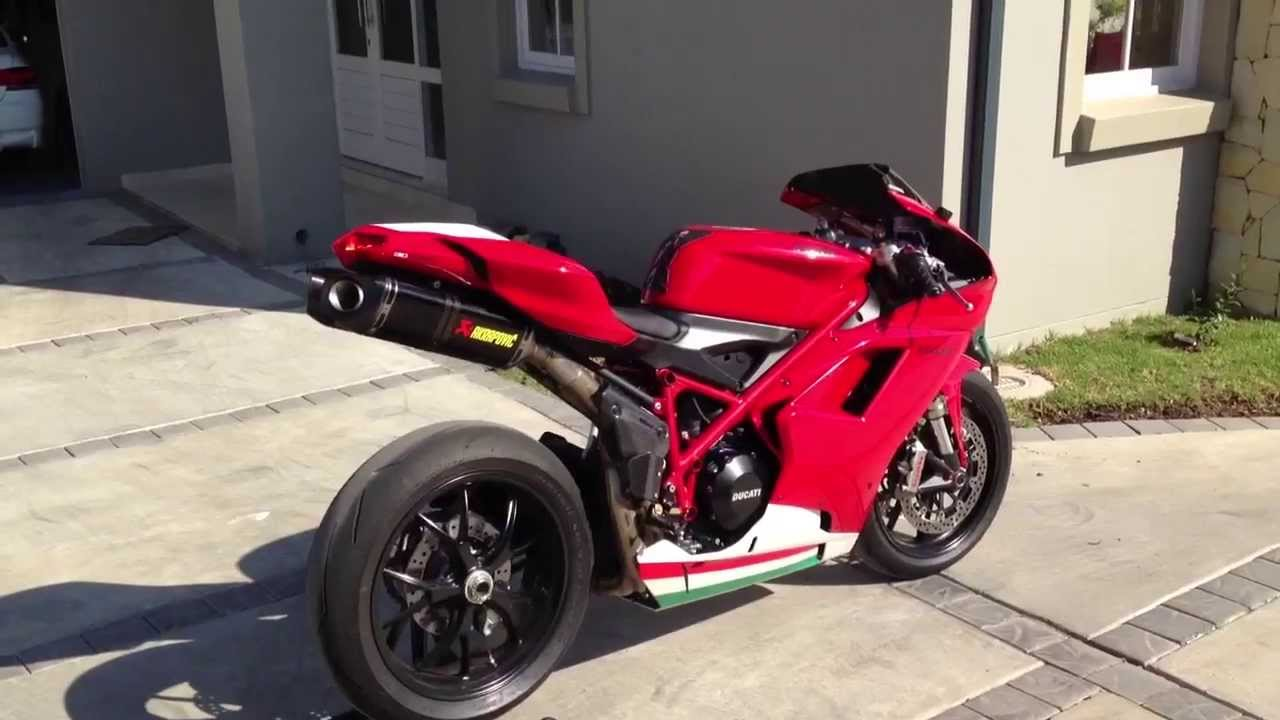 2013 Ducati 848 Evo with Carbon Akrapovic - YouTube