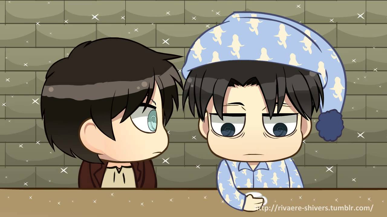 Attack On Titan Cute Wallpaper Snk Chibi Shorts Levi Gets Tired And Feel Proud Of Eren