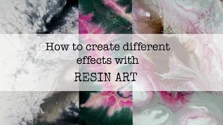 Resin Art painting techniques