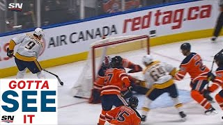 GOTTA SEE IT: Filip Forsberg Beats Mike Smith At Full Speed With Lacrosse-Style Goal