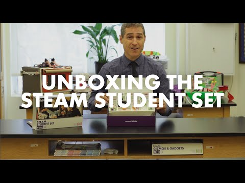 Unboxing the littleBits STEAM Student Set