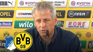 """Wir werden rotieren""  PK mit Lucien Favre   TSG 1899 Hoffenheim - BVB"