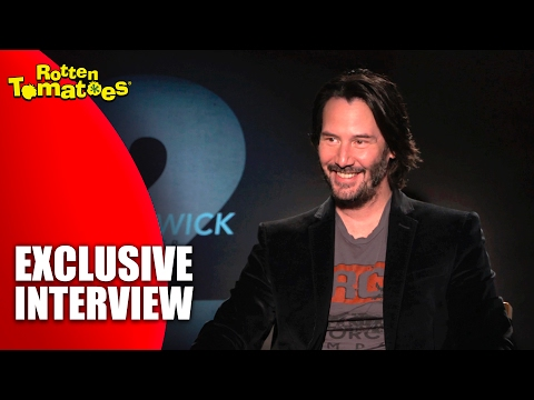 Keanu Reeves' Unstoppable Makeup - Exclusive 'John Wick: Chapter 2' Interview (2017)