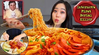 FIANCE MAKES KOREAN KIMCHI BUDAE JJIGAE (Army Based Stew) MUKBANG
