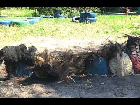 mistotvpoltava: Спалили майданчик, який облаштували діти з батьками