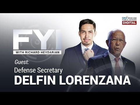 LIVESTREAM: FYI with Richard Heydarian: Exclusive interview with Defense Secretary Delfin Lorenzana