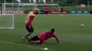 messi funny moments on training
