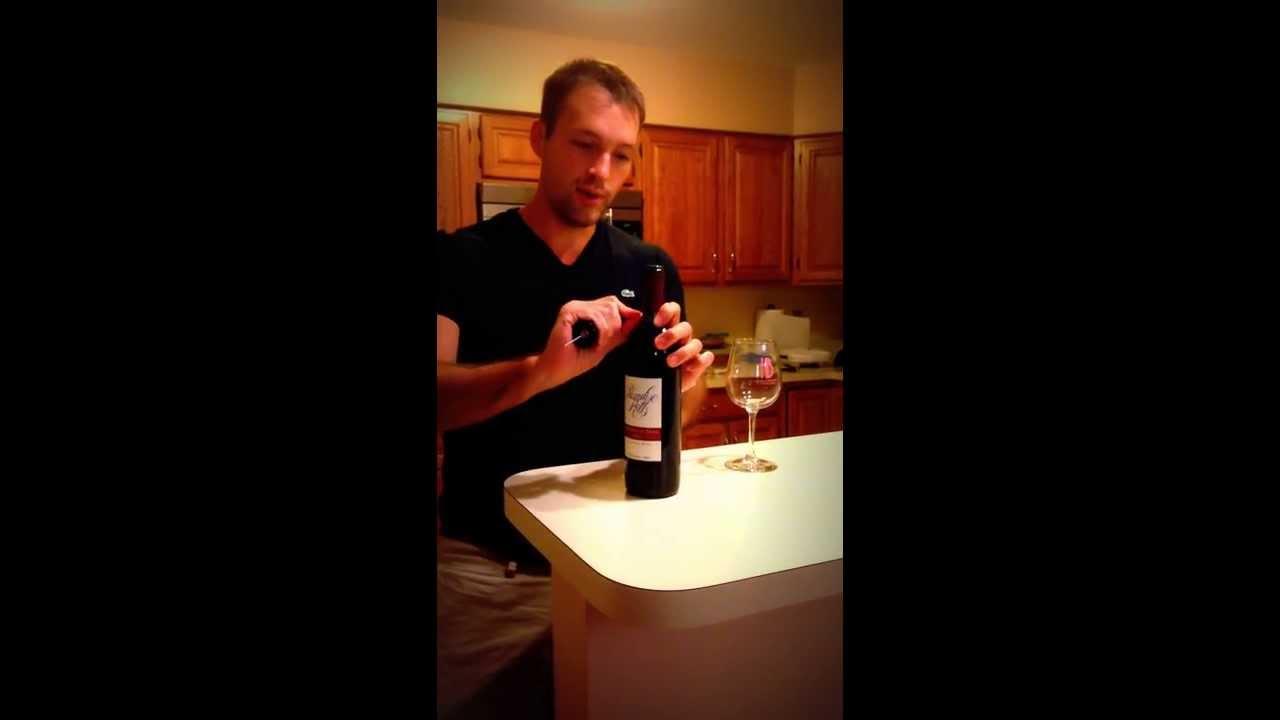 cork pops wine opener demo youtube. Black Bedroom Furniture Sets. Home Design Ideas