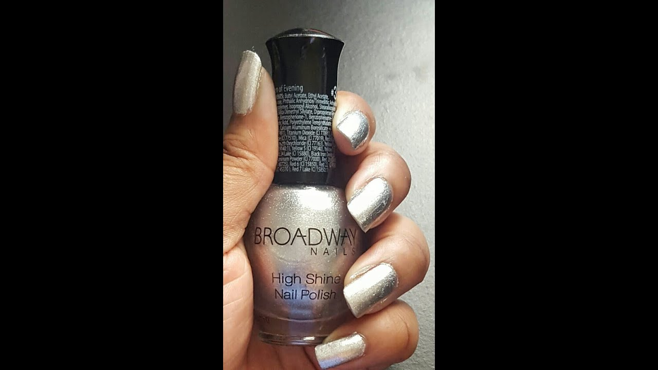 Broadway Nail (Queen of Evening) Polish - YouTube