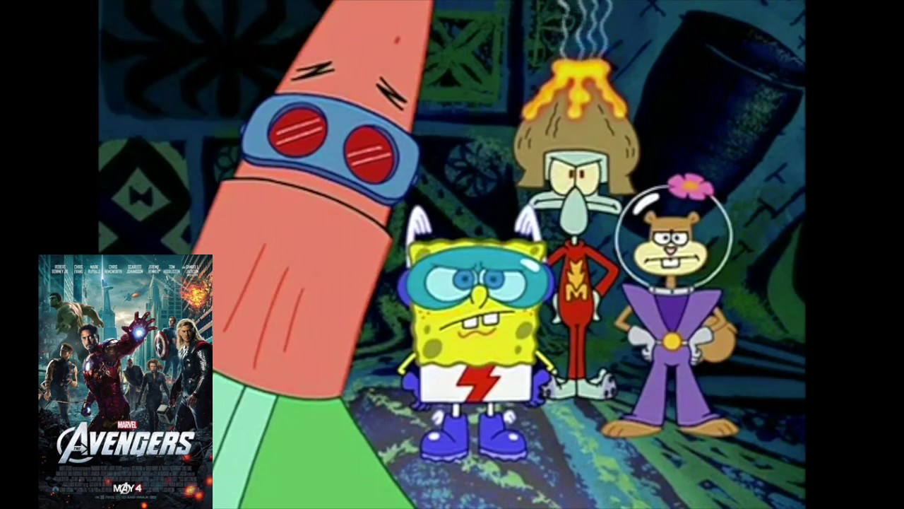 The marvel cinematic universe movies so far portrayed by spongebob