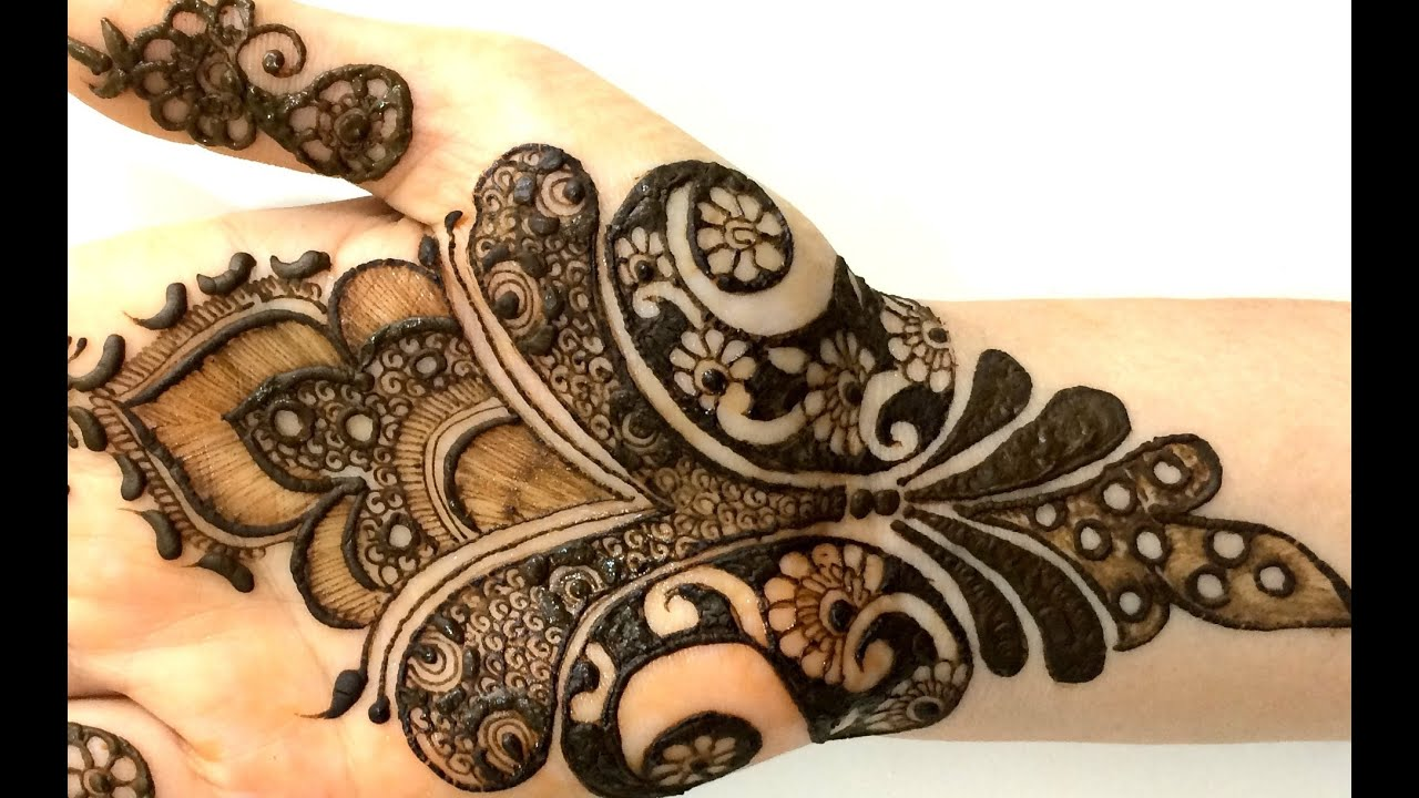 New Designs Mehndi Hands : New pakistani henna mehendi full hand step by creative