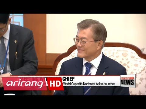 S. Korean Pres. Moon Jae-in proposes hosting 2030 World Cup with Northeast Asian countries, N. Korea
