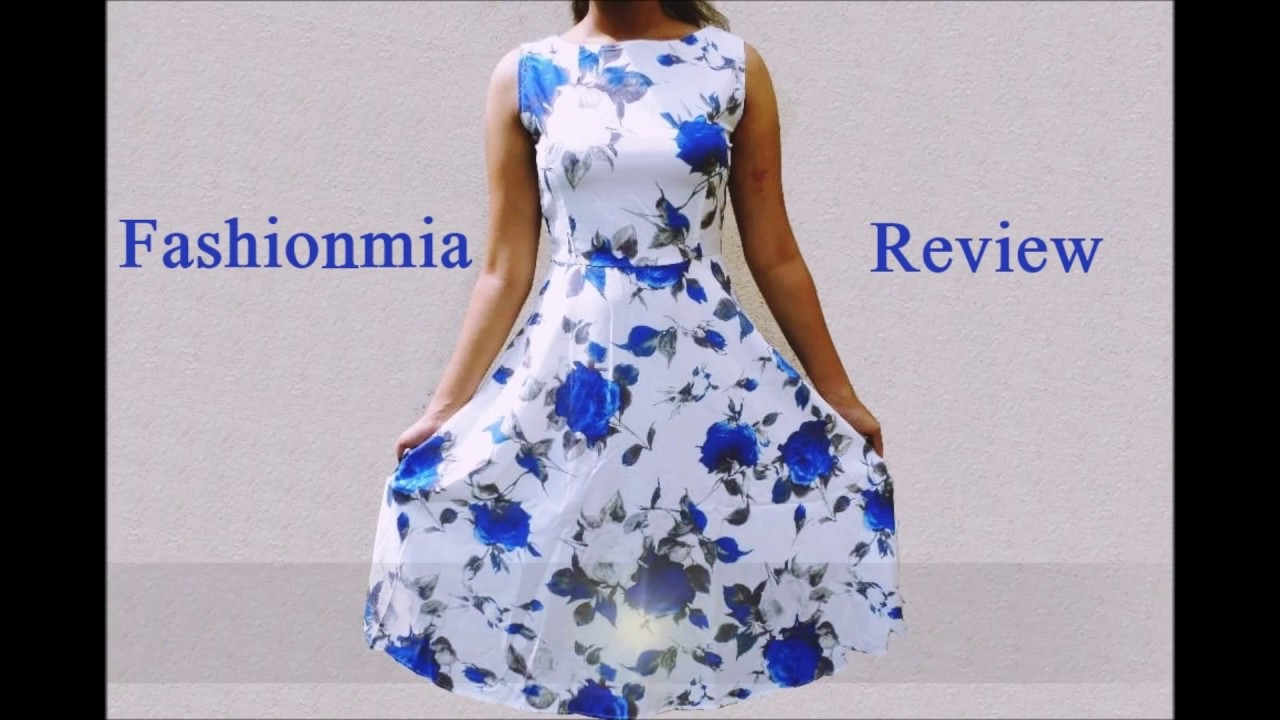 a743cdd2d1a Fashionmia.com Skater dress and Bodycon dress Review - YouTube