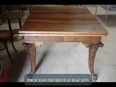 RESTAURACIÓN DE MESILLAS DE NOCHE Y MESA DE COMEDOR. - YouTube