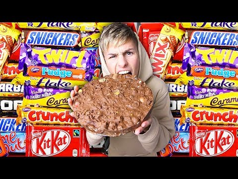 MIXING EVERY CHOCOLATE CANDY TOGETHER (Chocolatiest Chocolate Bar in The WORLD)