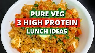 PURE VEG HIGH PROTEIN Recipes for LUNCH | PURE VEG LUNCH Recipes for GYM DIET