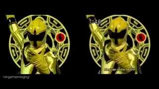 Power Rangers Mystic Force First Appearance Split Screen (PR and Sentai version)