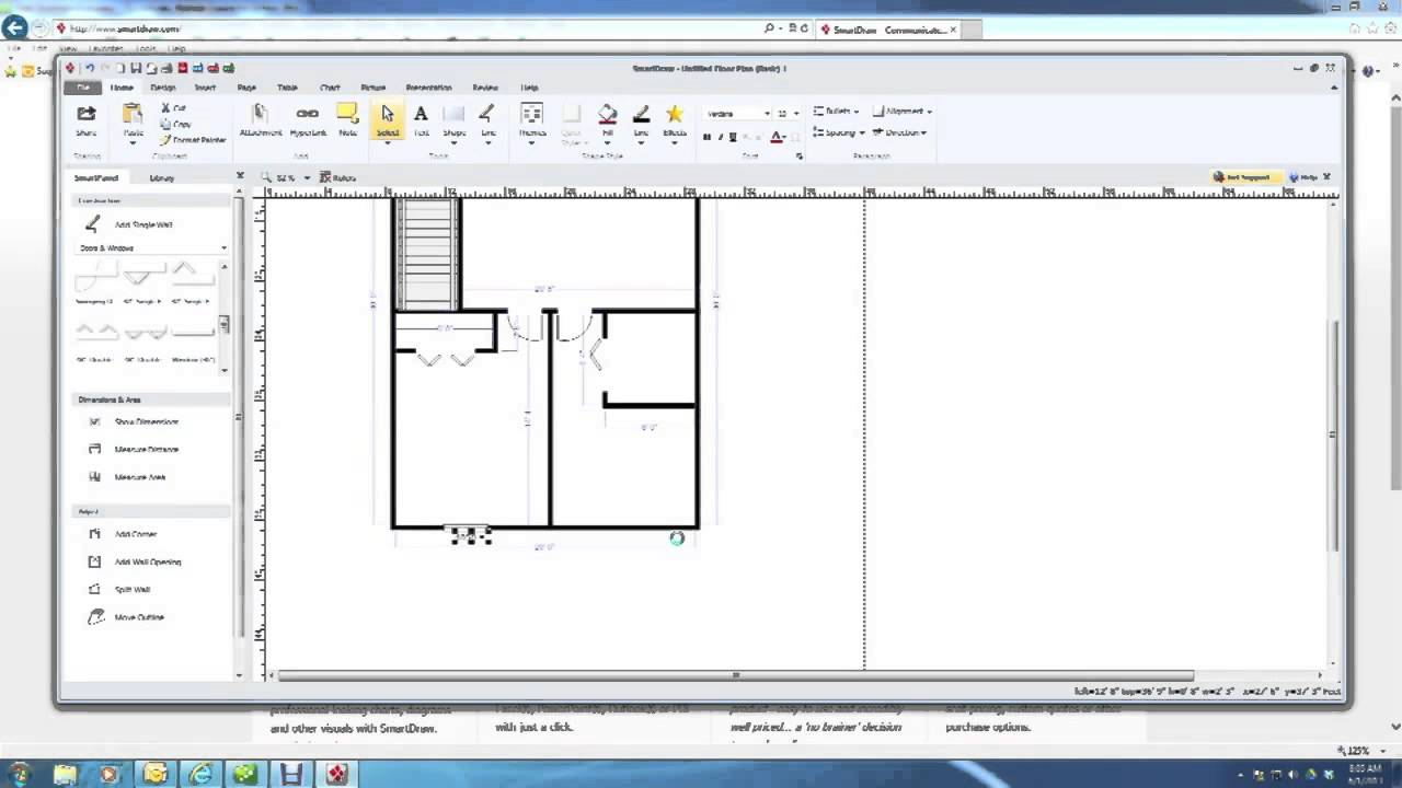 How to draw a basement plan youtube for Basement planner online