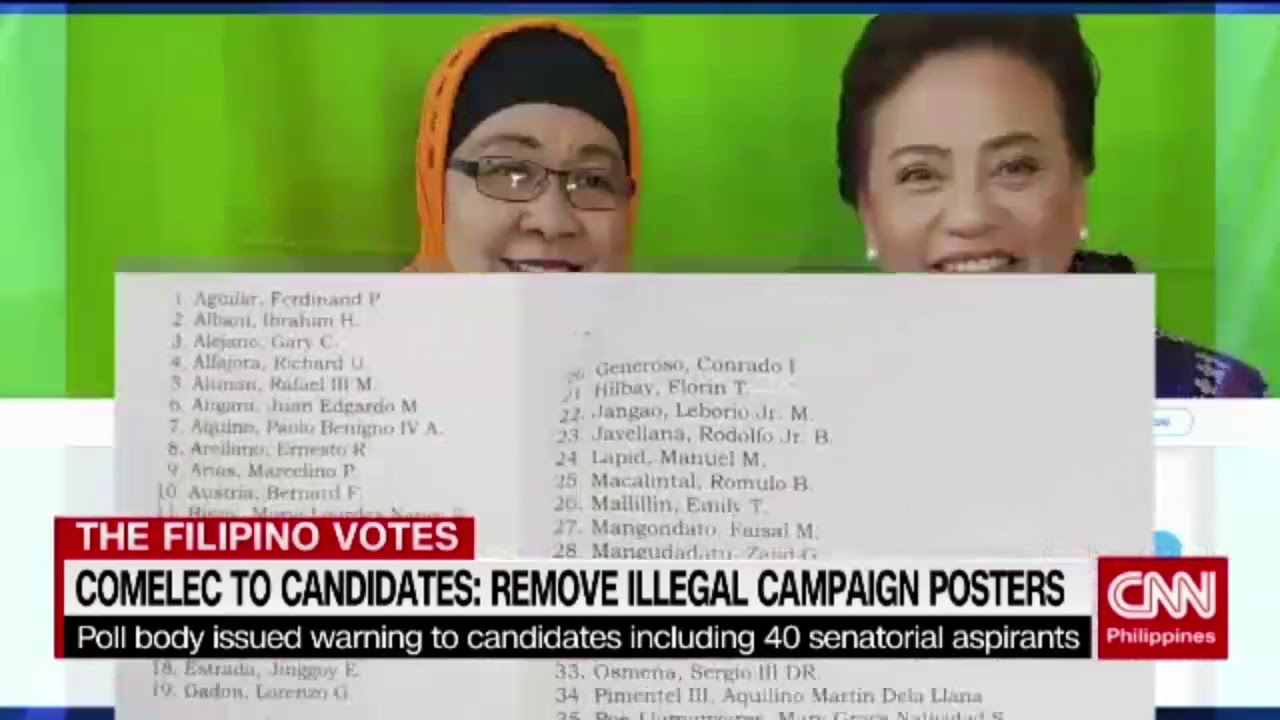 Comelec to candidates   Remove illegal campaign posters