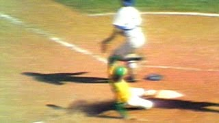 connectYoutube - 1974 WS Gm1: Holtzman scores on Campaneris' squeeze