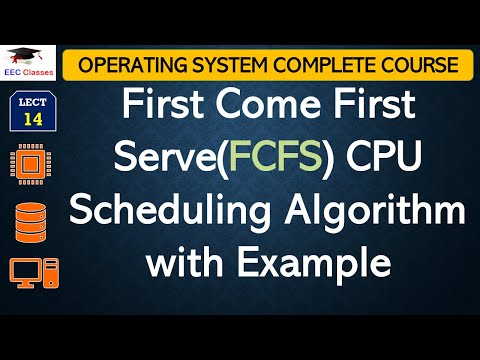 First Come First Serve(FCFS) CPU Scheduling Algorithm with Solved Example