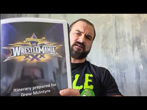 Drew McIntyre finds mementos from his WWE journey: WrestleMania Diary