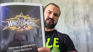 Drew McIntyre finds mementos from his WWE journey WrestleMania Diary