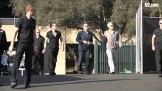 U2 Arrives @ the Rose Bowl