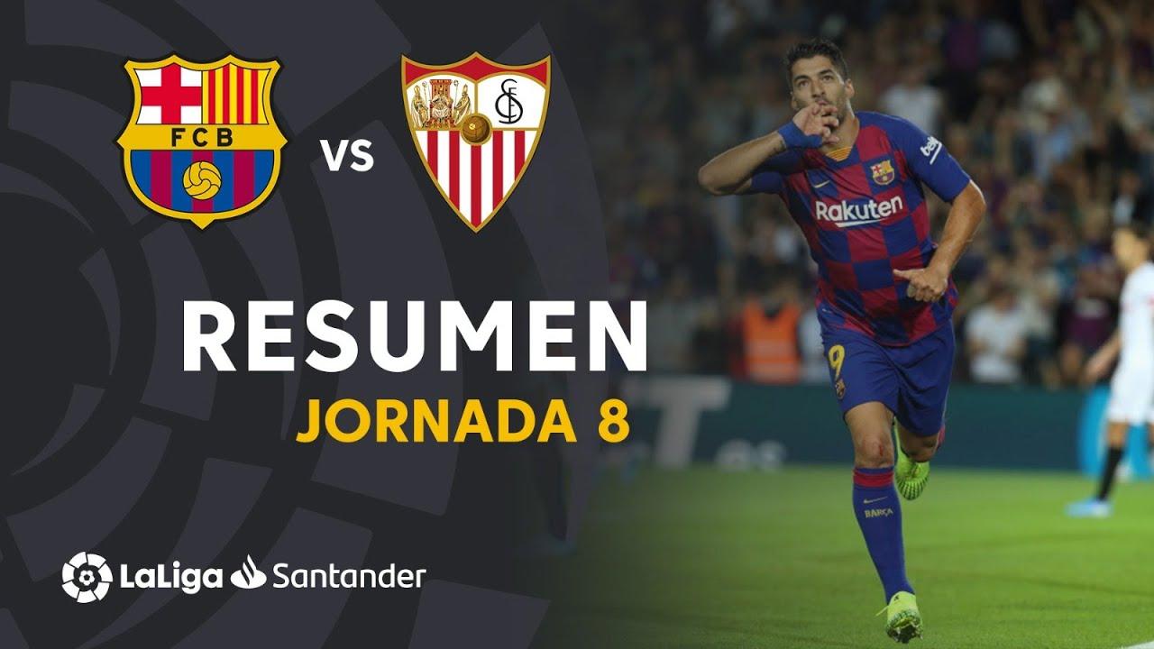 Resumen De Fc Barcelona Vs Sevilla Fc 4 0 Youtube