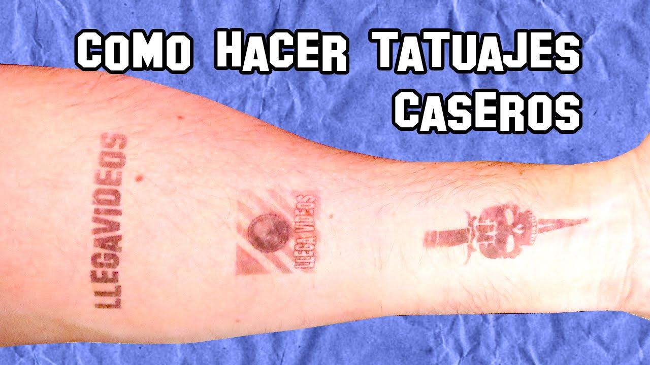 Cómo Hacer Tatuajes Temporales Caseros Diy Youtube