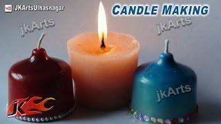 DIY Homemade Wax Candles   How to Make   JK Arts 474