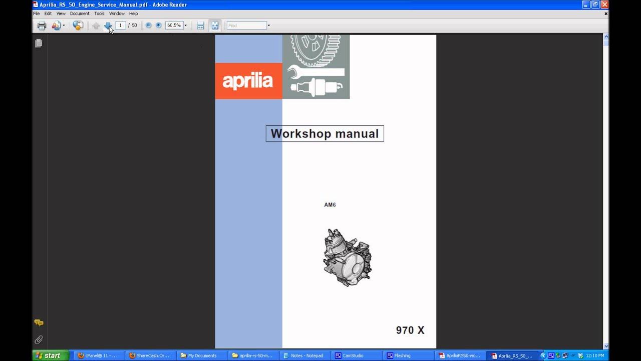 Aprilia RS 50 Manual  YouTube