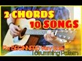 Play 10 HIT SONGS With Just 2 CHORDS EASIEST GUITAR LESSON|MASHUP