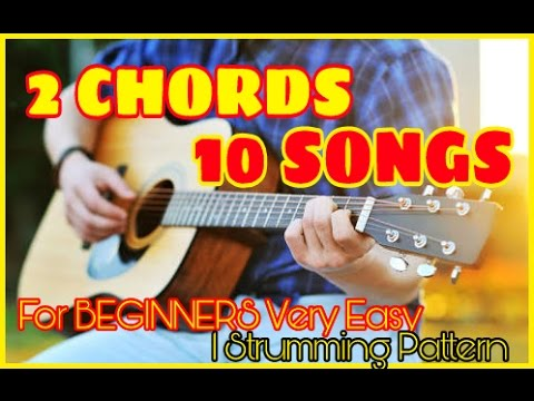 Play 10 HIT SONGS With Just 2 CHORDS EASIEST GUITAR LESSON|MASHUP ...