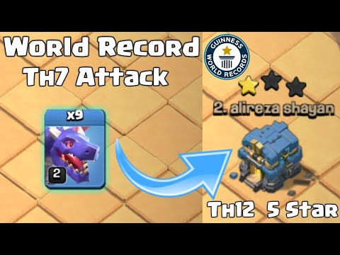 I DID IT ! TH7 WAR ATTACK ON TH12 || CLASH OF CLANS