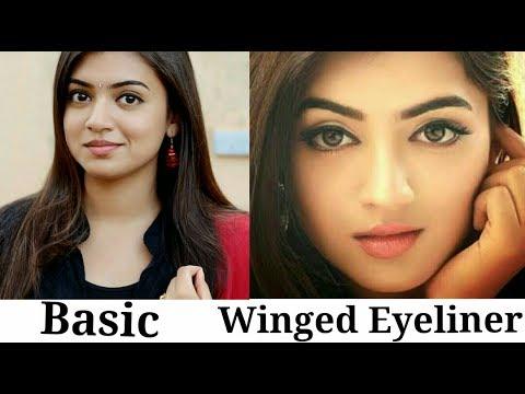 Nazriya Nazim inspired eyeliner - Basic & winged Eyeliner tutorial |2018|