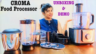 Croma Food Processor | Unboxing & Live Demo | Hindi | Worth the price ? Affordable ? | My Review