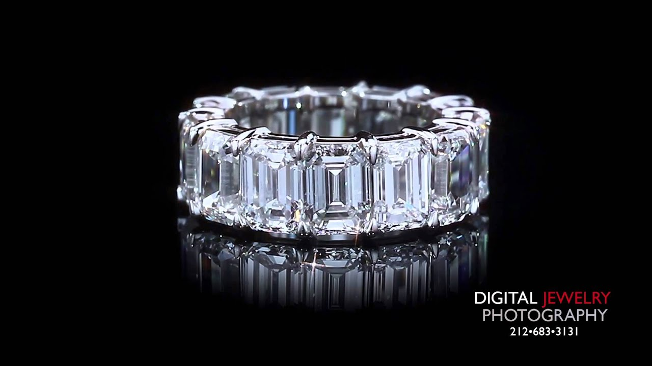 gold eternity wedding cut diamond white princess product bands band
