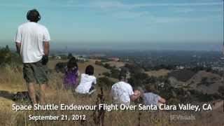 Space Shuttle Endeavour Flight Over Santa Clara Valley, CA