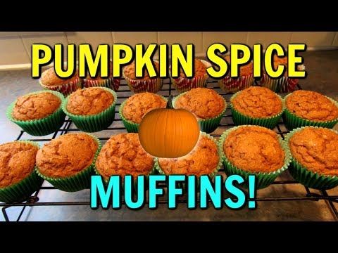 PUMPKIN SPICE MUFFINS!  So Easy!  Using A Cake Mix!
