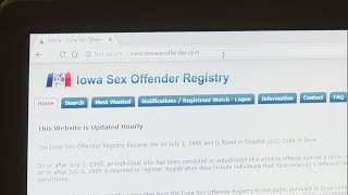 How to search the Iowa Sex Offender Registry