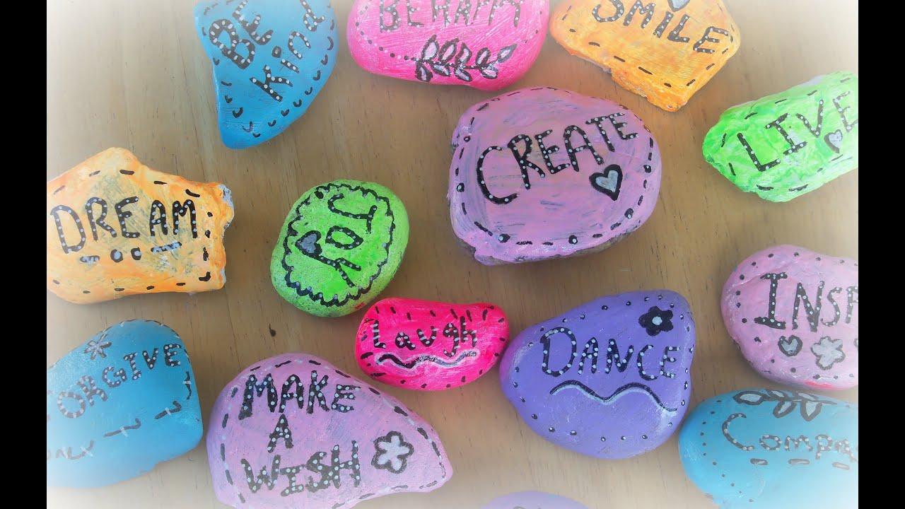 lovesummerart how to make word rocks diy inspirational