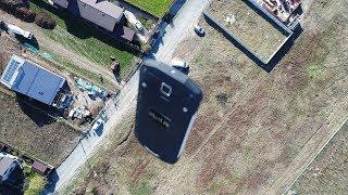 Drop-test de iHunt de la 100 metri înălțime + excavator de 5 tone