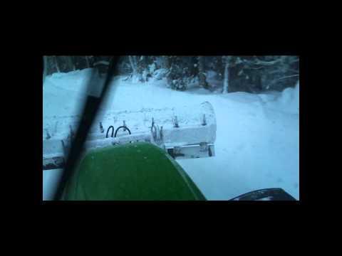 JD 6920 snowploghing