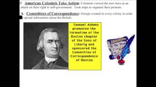 R2R   Intolerable Acts to First Continental Congress