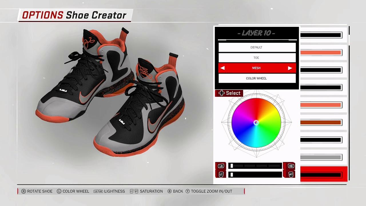 the latest 62e44 a95ec NBA 2K18 Shoe Creator - Nike LeBron 9
